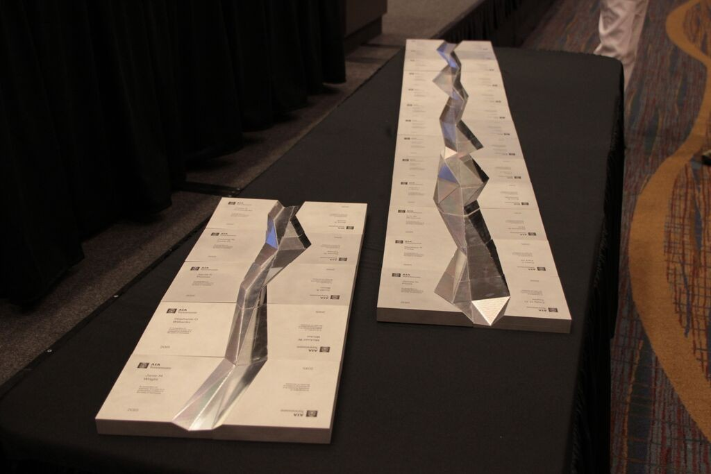 Custom Awards given to Newly Licensed Architects at our 2015 Convention
